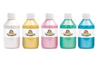Peinture acrylique nacrée - 5 flacons de 250 ml - Acryliques scolaire - 10doigts.fr