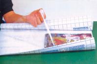 Rouleau de pellicule adhésive repositionnable transparente - Feuilles en plastique - 10doigts.fr