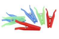 Pinces à linge plastique - 6 pinces - Pinces spéciales bricolage - 10doigts.fr