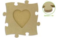Cadre puzzle en bois médium - Cadres photos - 10doigts.fr