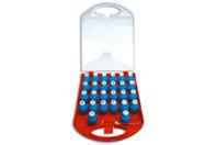 Minis Perforatrices - Valisette de 26 découpes assorties - Perforatrices fantaisies - 10doigts.fr
