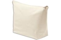 Pochette à bijoux en coton naturel avec fermeture zippée - Support textile à customiser - 10doigts.fr