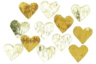 Cœurs en bouleau - Set de 10 - Décorations en Bois - 10doigts.fr