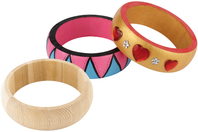 Bracelet en bois - 2 tailles au choix - Bijoux, bracelets, colliers - 10doigts.fr