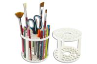 Pincelier en plastique - 12.5 cm - Palettes et rangements - 10doigts.fr