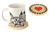 Dessous de verre rond en bois - Cuisine et vaisselle - 10doigts.fr