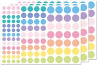 Gommettes rondes Pastel - 3 planches - Décorations Licorne et Arc-en-ciel - 10doigts.fr