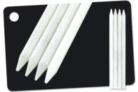 """Crayons blancs """"Concentré de craie"""" - 4 pièces - Craies, tableaux, ardoises - 10doigts.fr"""
