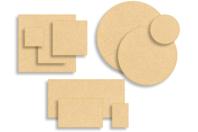 Supports plats en bois médium (MDF) - Supports pour mosaïques - 10doigts.fr