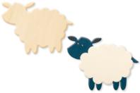 Mouton en bois naturel - Motifs bruts - 10doigts.fr