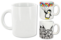 Mug en porcelaine blanche - Supports en Céramique et Terre Cuite - 10doigts.fr