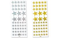 Étoiles holographiques - 102 stickers - Gommettes Noël - 10doigts.fr