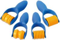Rouleaux à empreintes assorties - Set de 4 - Outils de Modelage - 10doigts.fr