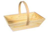 Panier décoratif rectangulaire en bois - Corbeilles et paniers - 10doigts.fr