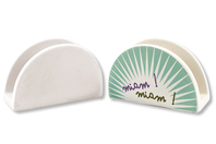 Range-courrier en terre cuite blanche - 4 pièces - Supports en Céramique et Terre Cuite - 10doigts.fr