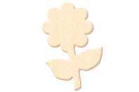 Fleur n°2 en bois naturel - Motifs bruts - 10doigts.fr