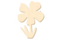 Fleur n° 3 en bois naturel - Motifs bruts - 10doigts.fr