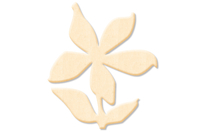 Fleur n°4 en bois naturel - Motifs bruts - 10doigts.fr
