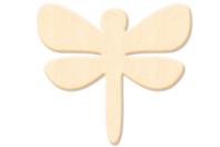Libellule en bois naturel - Motifs bruts - 10doigts.fr