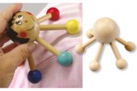 Araignée de massage en bois naturel - Jeux et Jouets en bois - 10doigts.fr