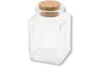 Petits bocaux à épices en verre - Lot de 4 - Supports en Verre - 10doigts.fr