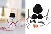 Accessoires à piquer bonhomme de neige - Suspensions et boules de Noël - 10doigts.fr