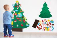 Sapin géant en feutrine + accessoires - Kits d'activités Noël - 10doigts.fr