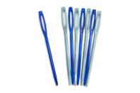 Aiguilles en plastique - Lot de 8 - Laine - 10doigts.fr