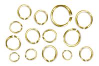 Anneaux ronds brisés dorés - Ø 5 mm - Anneaux simples ou doubles, ronds ou ovales - 10doigts.fr
