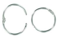 Anneaux métalliques argentés à clip - Lot de 10 - Porte-clés pour bijoux - 10doigts.fr