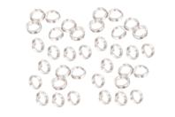 Anneaux doubles ronds argentés - Lot de 100 - Anneaux simples ou doubles, ronds ou ovales - 10doigts.fr
