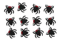 Stickers araignées pailletées - 12 pièces - Gommettes Halloween - 10doigts.fr