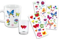Stickers en plastique pour céramique, verre et métal - Stickers Fantaisies - 10doigts.fr