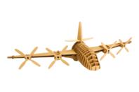 Trophée avion en carton à assembler - Objets décoratifs en carton - 10doigts.fr