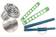 Outils pour création de bagues en fil aluminium - Mandrins + baguiers - Fils aluminium - 10doigts.fr