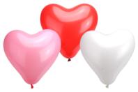 Ballons cœurs, couleurs assorties - Set de 100 - Ballons, guirlandes, serpentins - 10doigts.fr