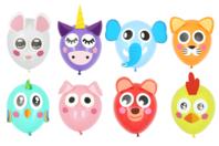 Kit 8 ballons animaux à décorer - Ballons, guirlandes, serpentins - 10doigts.fr