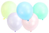 Ballons ronds, couleurs pastels - 100 ballons - Ballons, guirlandes, serpentins - 10doigts.fr