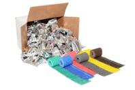 Bandes plâtrées couleurs assorties - Set de 48 - Plâtre - 10doigts.fr