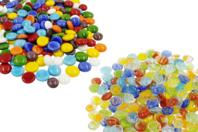 Galets de verre pour mosaïques - 200 pièces - Mosaïques verre - 10doigts.fr