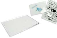 Bloc transparent pour tampons clear - Tampons transparents en silicone - 10doigts.fr