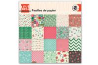 Bloc papier de Noel - 20 feuilles  - Papiers motifs fêtes - 10doigts.fr