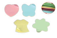 Blocs-notes repositionnables multicolores - Formes au choix - Blocs notes - 10doigts.fr