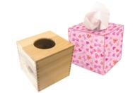 Boîte à mouchoirs cubique en bois - Objets pratiques du quotidien - 10doigts.fr