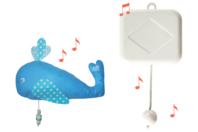 """Boîte à musique avec tireuse - Mélodie """"Lullaby de Brahms"""" - Carillons à faire soi-même - 10doigts.fr"""