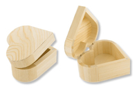 Boîte coeur en bois avec fermeture aimantée - Boîtes et coffrets - 10doigts.fr