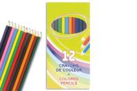 Crayons de couleur - Pochette de 12 - Crayons de couleurs - 10doigts.fr