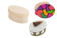 Boîte ovale en bois - Boîtes et coffrets - 10doigts.fr