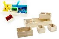 Boîte en bois - 10 compartiments amovibles - Boîtes et coffrets - 10doigts.fr