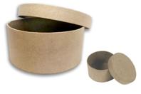 Boîte ronde en carton ø 8 cm - hauteur 3,5 cm - Boîtes - 10doigts.fr